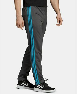 Adidas Essentials 3-Stripes Tapered Tricot Pants Large Grey/Blue EB3994