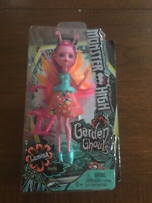 "Monster High Garden Ghouls Lumina Firefly Winged Critters 5"" Pink Mini Doll"