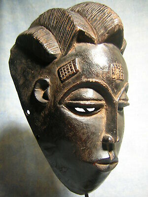 Art Africain Ancien Masque Baoule Statue Africaine African Mask Tribal Afrique