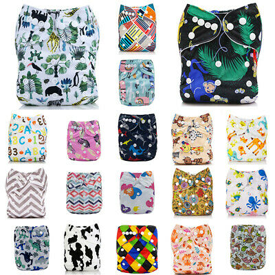 Diapers Reusable Nappy+ Size ALVA Insert 4-layers One Cloth 1 Pocket Baby Bamboo