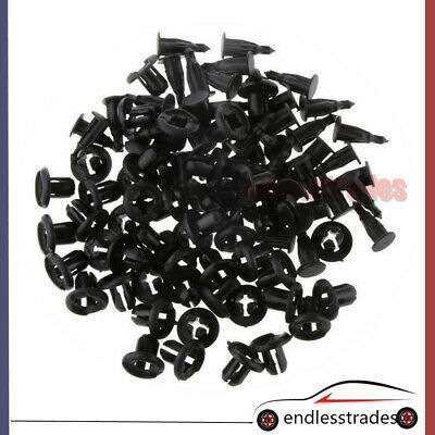 50pc Plastic Car Front Bumper Fender Retainer Fastener Push Type Clips For Honda