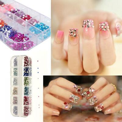 Fashion Rhinestone Nail Art Designs for Acrylic Tips UV Gel Decoration For Sell