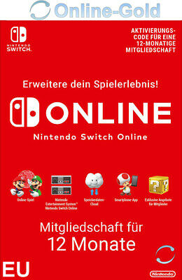 Nintendo Switch Online Mitgliedschaft 12 Monate 365 Tage Switch Download Code EU