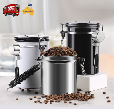 1.8L Coffee Canister One-way Freshness Nuts Bean One-way Vacuum Seal Storage AU