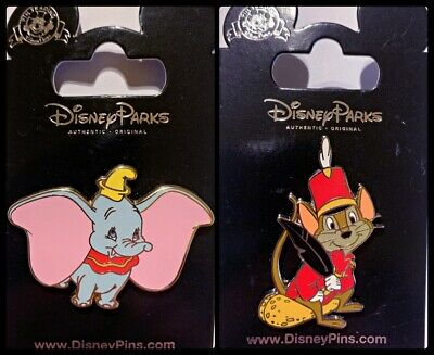 Disney Parks 2 Pin Lot DUMBO + TIMOTHY the mouse