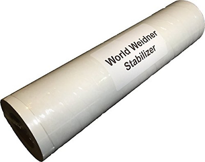 World Weidner Self-Adhesive Sticky Peel N Stick Tear Away Embroidery Stabilizer