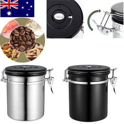 Coffee Airtight Storage Containers Stainless Steel Kitchen Tea Candy Canister