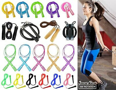 Skipping Rope 9ft Adjustable Jump Boxing Fitness Speed Rope MMA Gym Training Rop