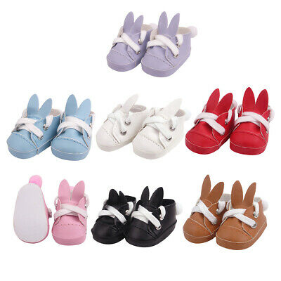 14.5inch Baby Doll PU Rabbit Shoes Sneakers for American Doll Accessories