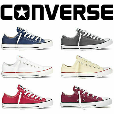 Converse Mens Womens Unisex All Star Low Tops Chuck Taylor Trainers Shoes New UK