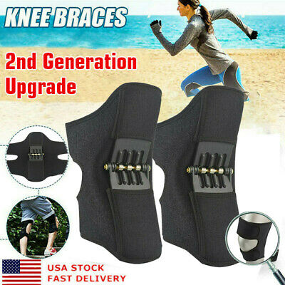 1 Pair 2nd Generation Power Knee Stabilizer Pads Rebound Spring Force Knee Pad
