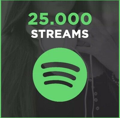 25000 Premium Spotify Streams