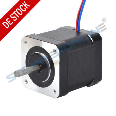 0.9deg Nema 17 Schrittmotor 46Ncm 2A 48mm Full D-cut Shaft 1m Cable W/ Connector