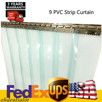 9 Strip PVC window curtains plastic strip Door curtains Clear for Warehouse Mall
