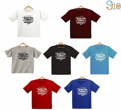 Travel Enough To Meet Yourself Kids Boys Girls T Shirts Fashion Cute Dope Tee