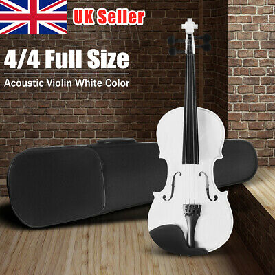 UK 4/4 Full Size Acoustic Violin Set W/Case&Bow&Bridge&Strings Children Gifts