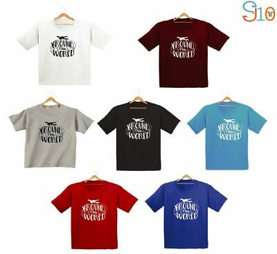 Around The World Printed Kids Boys Girls T Shirts Cute Fashion Tee Dope Gift