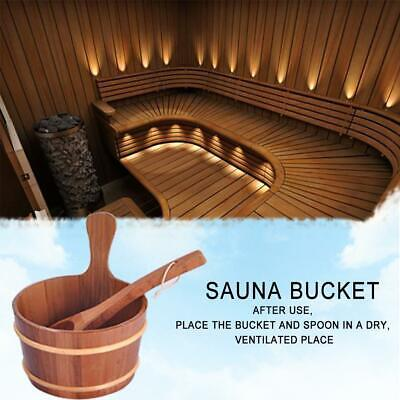 4L Sauna Special Wooden Barrel Wooden Spoon Bath Sweat Steaming Foot Special