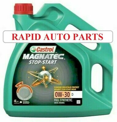 Castrol Magnatec Stop-Start 0w-30 D Fully Synthetic Car Engine Oil - 4 Litres 4L
