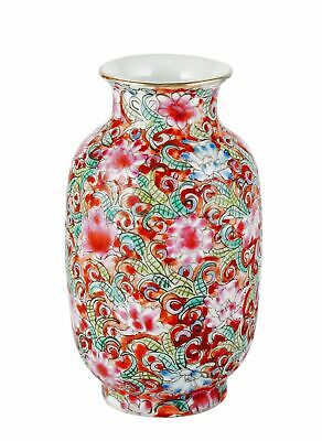 PORCELAIN Antique CHINESE Multi-Colored Vase MILLE-FLEUR Design RARE