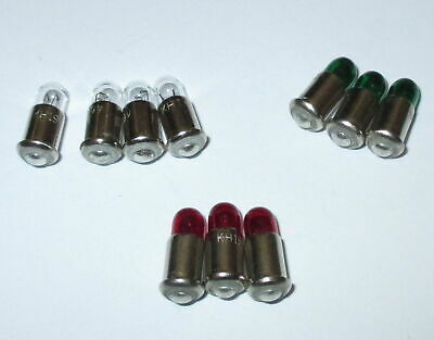 Spare Bulbs MS4 Red, Green,Clear - 19V - Color of Your Choice 10 x New