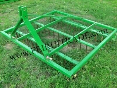 Farm Harrow Spike Tine 3 Point Links Aerator Equestrian Paddocks Tractor 6 Ft.