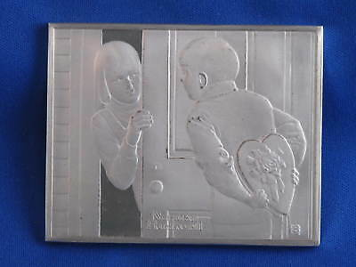 1973 Franklin Mint Norman Rockwell The First Date Sterling Silver Medal B3565