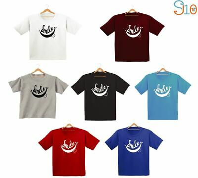Smile Printed Kids Boys Girls T Shirts Summer Fashion Funny Cute Gift Dope Tee