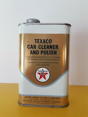 Vintage oil can  texaco car Cleaner and polish