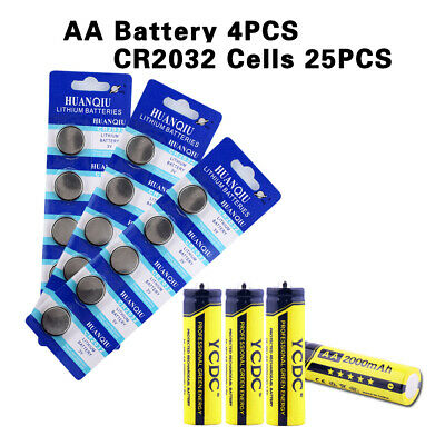 4pcs high volume rechargeable aa nimh battery 2000mah with 25pcs cr2032 cell DE