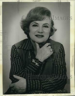 1977 Press Photo Cosmetics Tycoon Aida Grey - nob26095