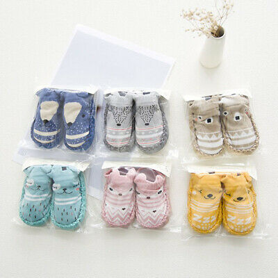 Newborn Baby Kids Girl Soft Sole Prewalker Socks Crib Shoes Anti-slip Moccasin