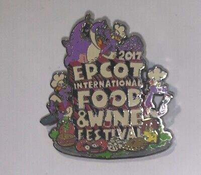 Disney Pin Figment Food And Wine Festival Epcot 2017 Logo Limited Release