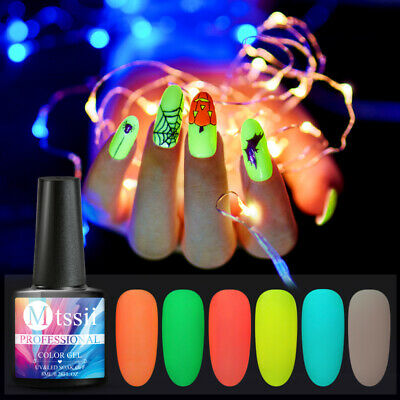 MTSSII 8ml Nail Gel Polish Luminous Top Base Coat Soak Off Varnish Manicure Tips