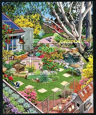 2019 In The Garden (SCM) Stamp Collecting Month - MUH Mini Sheet/Sheetlet