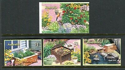 2019 In The Garden (SCM) Stamp Collecting Month - MUH Set of 4 Booklet Stamps