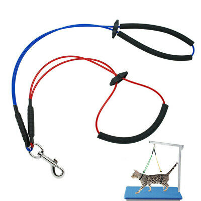 For Table Arm No-Sit Per Haunch Holder Dog Grooming Restraint Harness Leash Loop