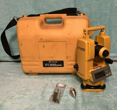Topcon DT-209 Optical Digital Theodolite With Carrying Case, DT-200 Series