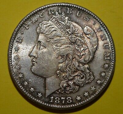Toned Uncirculated 1878 S  Mint Silver Morgan Dollar Free Shipping