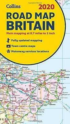 2020 Collins Map of Britain by Collins Maps Sheet map folded NEW Book