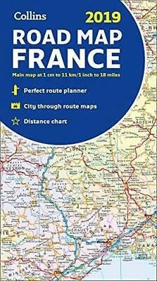 2019 Collins Map of France by Collins Maps Sheet map folded NEW Book