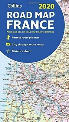 2020 Collins Map of France by Collins Maps Sheet map folded NEW Book