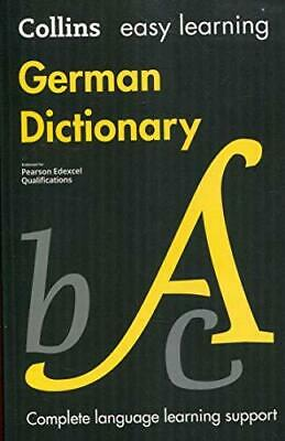 Easy Learning German Dictionary by Collins Dictionaries Paperback NEW Book