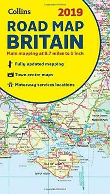 2019 Collins Map of Britain by Collins Maps Sheet map folded NEW Book