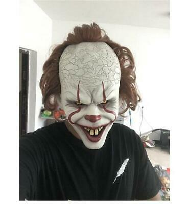 Stephen King's It Mask Pennywise Clown Mask Halloween Cosplay Costume Props