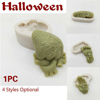 1x Halloween Cake Decorating  Silicone Mold Tools Organs Heart Hands Shape