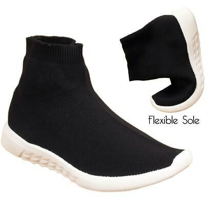 New Kids Childrens Boys Girls Sports Flexible Sole Socks Mesh Trainers Shoes UK
