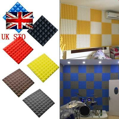Acoustic Panel Tiles Studio SoundProof Flame Retardant Insulation Closed Foam UK