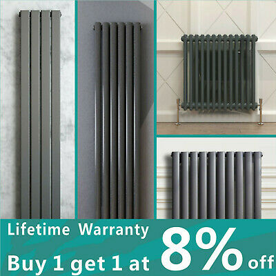 Designer Radiator Flat Panel Oval Column Traditional 2 3 Column Rads Anthracite
