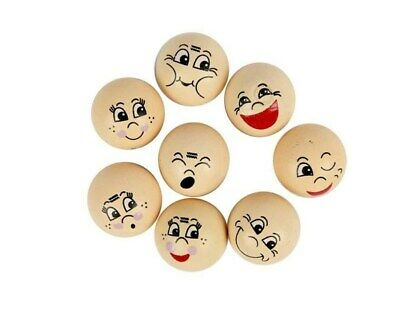 16 Assorted Wooden Heads for Crafts - 20mm   Wooden Shapes for Crafts